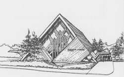 Adventist Church architectural drawing